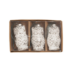 Sophie Allport Owl Bauble Decorations (set of 3)