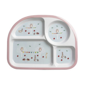 Sophie Allport 'Woodland Party' Children's Melamine Divider Plate