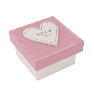 You & Me wooden trinket box