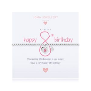 A Little Happy 8th Birthday Joma Jewellery bracelet