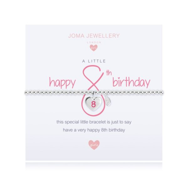 A Little Happy 8th Birthday Joma Jewellery bracelet