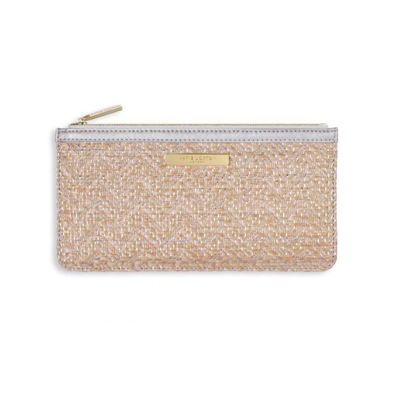 dd235cf8fe9 Katie Loxton Callie Metallic Slim Pouch - Natural & Gold - Blueberry ...