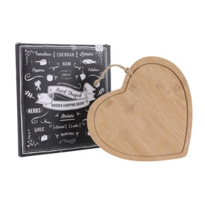 Heart Shaped Wooden Chopping Board