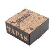 'Tapas' Carved Wood & Ceramic Bowl Set Gift Box