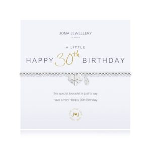 A Little Happy 30th Birthday Joma Jewellery bracelet