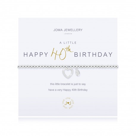 A Little Happy 40th Birthday Joma Jewellery bracelet