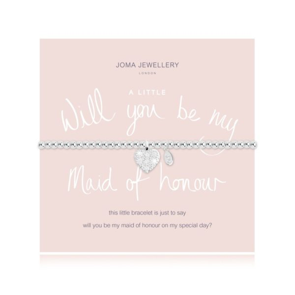 A Little Will You Be My Maid of Honour Joma Jewellery bracelet
